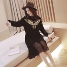 Sequined Long-Sleeve Dress 1596
