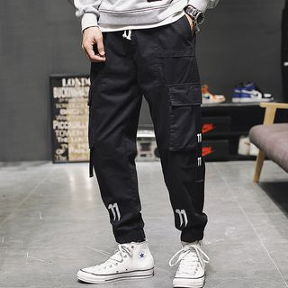 Image of Embroidered Cargo Pants