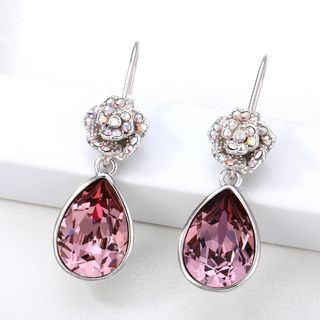 Swarovski Elements Crystal Flower Drop Earring 1063954404