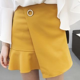 Ruffle Hem Mini Skirt 1059419682