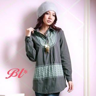 Buy Barbie Baigel Cable-Knit Long Blouse 1021144924
