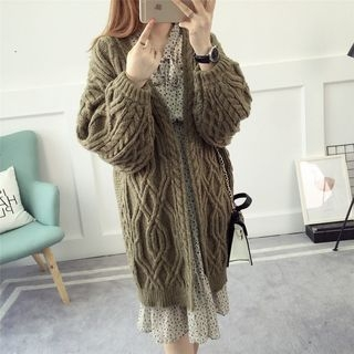 Ribbed Long Cardigan 1062712113