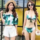 Set: Printed Top + Shorts + Bikini 1596