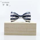 Star Print Striped Bow Tie 1596