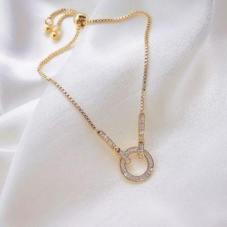 Rhinestone | Bracelet | Necklace | Hoop | Size | One