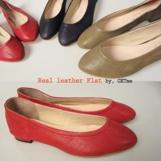 Picture of Getme Genuine Leather Flats 1022461350 (Flat Shoes, Getme Shoes, Korea Shoes, Womens Shoes, Womens Flat Shoes)
