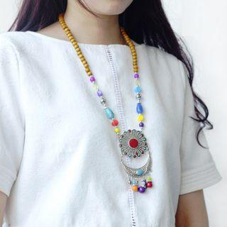 Image of Bead Pendant Necklace Random - One Size