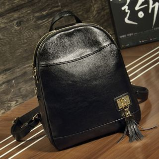 Tassel Genuine Leather Backpack