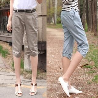 Picture of Blue Is Cropped Pants 1022559327 (Blue Is Apparel, Womens Pants, South Korea Apparel)