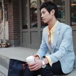 Picture of YOON-GOON Linen Blend Blazer 1023049350 (YOON-GOON, Mens Jackets, Korea)