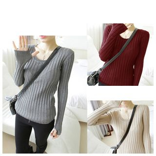 Ribbed Knit Top 1045452880