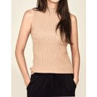 Sleeveless Ribbed Knit Top 1596