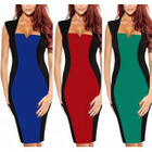 Sleeveless Color Block Sheath Dress 1596
