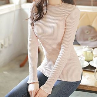 Slim-Fit Ribbed Knit Top 1057971852