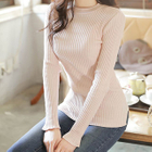 Slim-Fit Ribbed Knit Top 1596