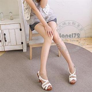 Buy Lane172 Studded Crossed Strap Wedge Sandals 1022815568