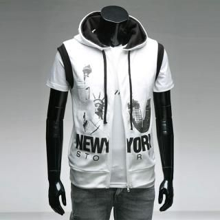 Buy Style YOURS Hooded Zipped Printed Vest 1022569183