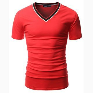 V-neck Short-Sleeve T-shirt 1049489208