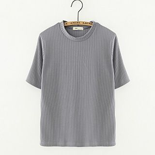 Ribbed Short-Sleeve Top 1052835399
