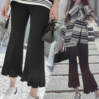 Knitted Boot-Cut Pants 1060431874