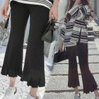 Knitted Boot-Cut Pants 1596