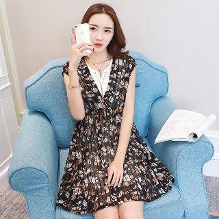 Sleeveless   Dress   Print