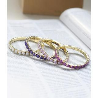 Cases & Bags Set of 4: Beaded Bracelets Purple, White - One Size