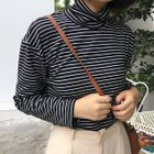 Mock-neck Long-Sleeve T-shirt 1596
