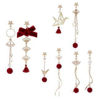 Image of Alloy Fan / Crane Dangle Earring (various designs)