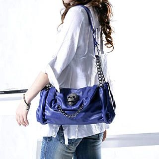 Buy Smoothie Skull Chain-Detail Flap Shoulder Bag 1022543324