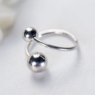 Image of 925 Sterling Silver Ball Open Ring