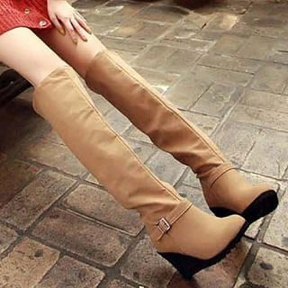 Over-The-Knee Wedge Boots