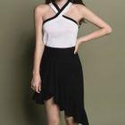 Set : Halter Knit Top + Mini Skirt 1596