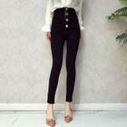 Plain High Waist Skinny Pants 1596