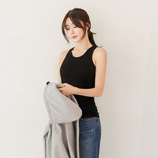 Sleeveless Ribbed Slim-Fit Top 1054796547