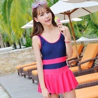 Color-Block Swimsuit 1039496765