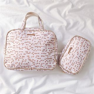 Image of Set: Dotted Makeup Pouch + Zip Pouch Set - One Size