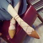 Lace-Up Pointy Flats от YesStyle.com INT