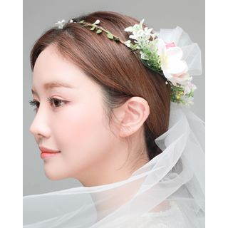 Bridal | Veil | Band | Rose | Hair | Size | One