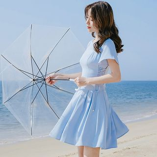 Short-sleeve | Chiffon | Dress
