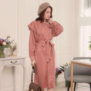 Long-Sleeve Tie-Waist Dress 1064752921
