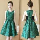 Open Back Sleeveless Dress 1596