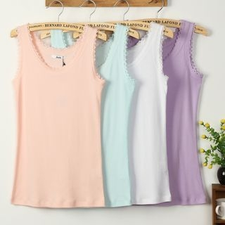 Lace-Trim Tank Top 1049740535