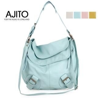 Picture of AJITO Faux-Leather Hobo 1022399634 (AJITO, Hobo Bags, Korea Bags, Womens Bags, Womens Hobo Bags)