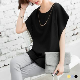 Double Layer Raglan Sleeve Long Top 1052804960