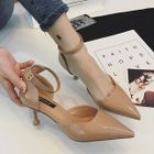 Ankle Strap Pointed Pumps 1596
