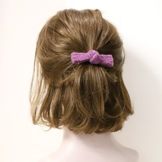 Bow Knit Hair Clip