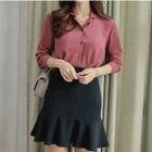 Set: Chiffon Shirt + Ruffle Fitted Skirt 1596
