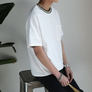 Ribbed Short-Sleeve T-shirt 1058005253