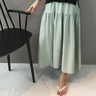 Band-Waist Shirred Long Skirt 1596